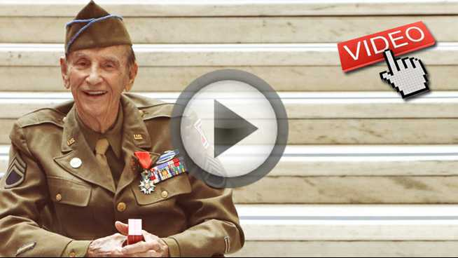 Click to play Honoring the aging warriors of WWII
