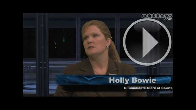 Click to play Conversations with the Candidates: Clerk of Court Candidate Holly Bowie (R)