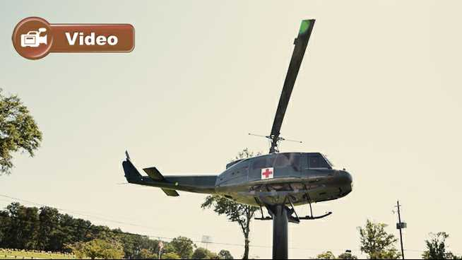 Click to play American Legion Post 77 Helicopter Rededication