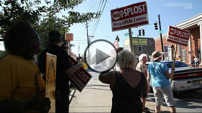 Click to play T-SPLOST protest hits Olde Town