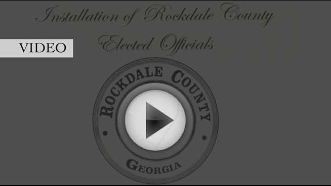 Click to play Rockdale County swore in a slate of 10 elected officials