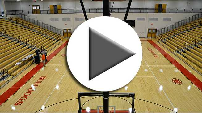 Click to play Bulldogs' new gym shines