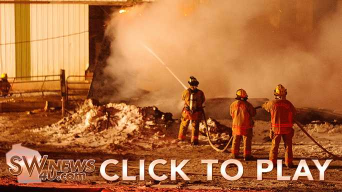 Click to play Firefighters battle more than barn fire