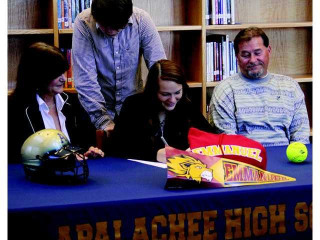 Apalachee softballer signs on to play