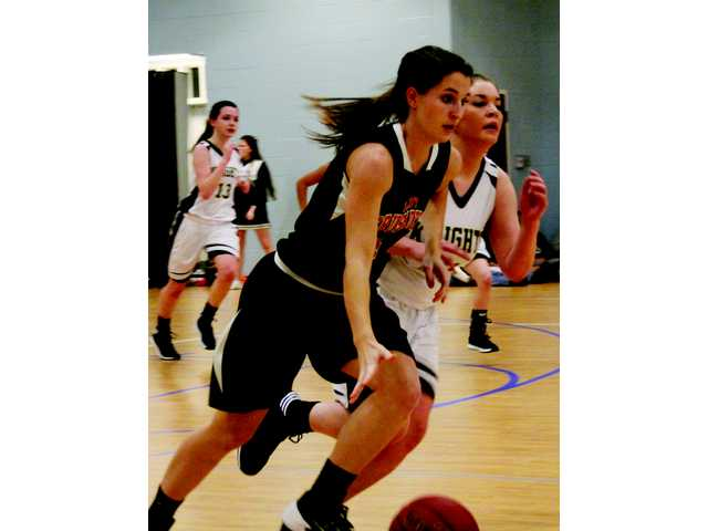 Lady Knights show spunk despite defeat