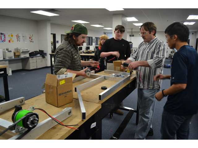 Robotics Club works to create a robot that can play catch