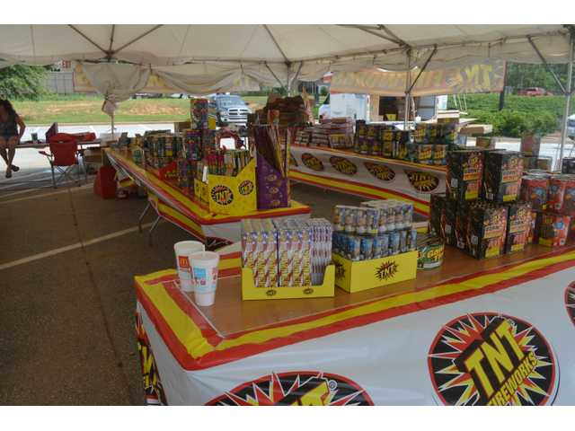 Fireworks stands pop up in advance of holiday