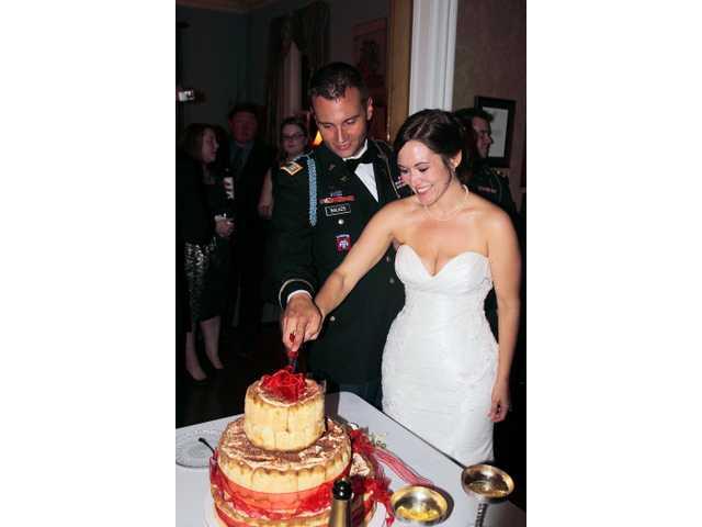 Miss Parrish, Capt. Balazs wed