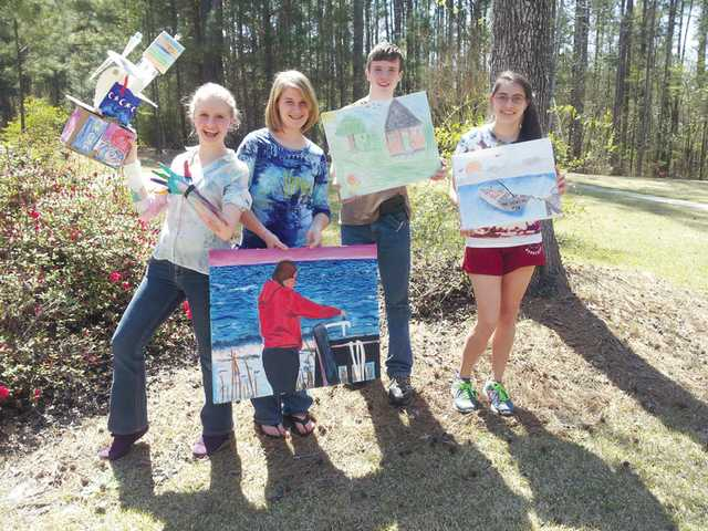 Homeschool artists to display work