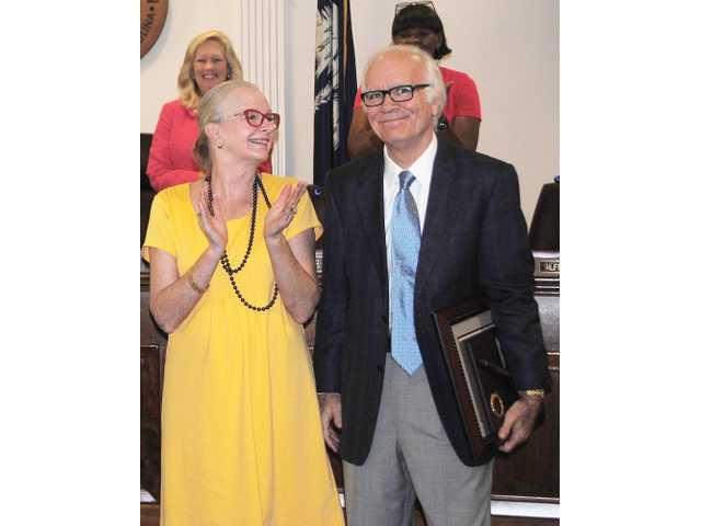 Judge Stegner honored at city council meeting