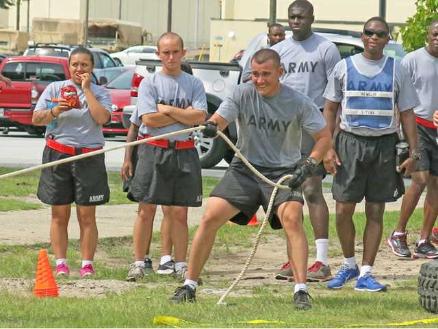 Fitness tests measure soldiers' mettle