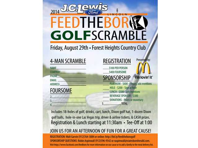 Feed the Boro to host benefit golf scramble