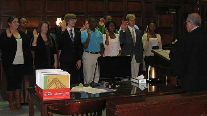 Teen Court members sworn in