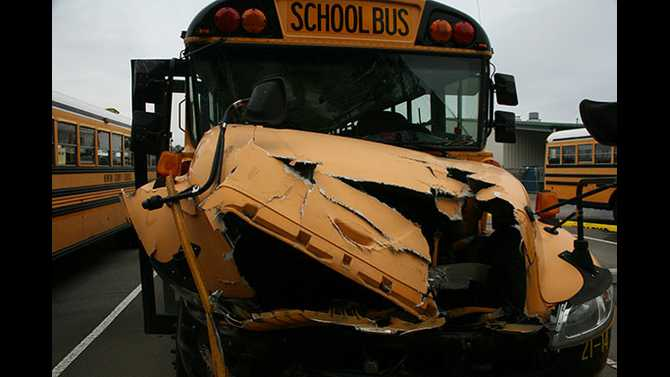 Brake failure ruled out in school bus crash in Newton
