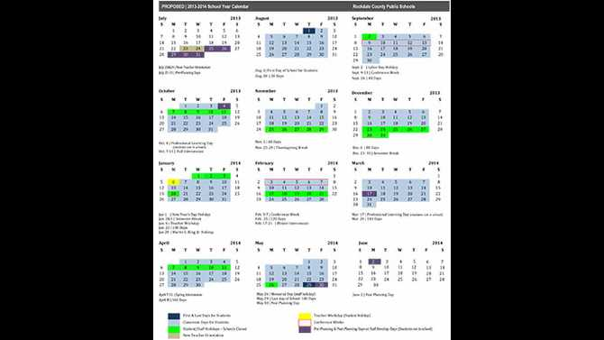 2013-2014 school calendar proposed