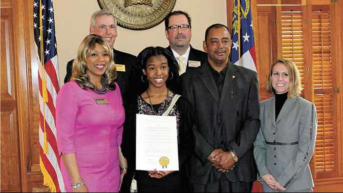Science students honored at Capitol