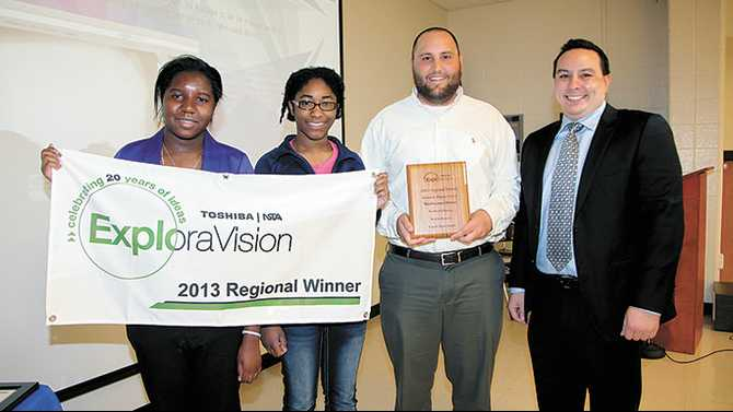 Magnet students win Toshiba/NSTA Exploravision contest for region