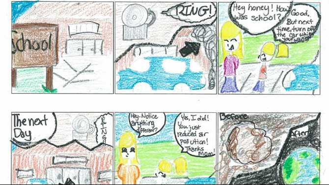 Davis Middle students win Clean Air Campaign art contest