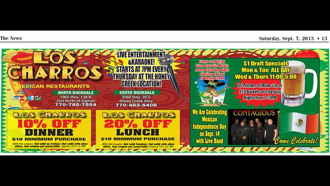 Featured Coupon: Los Charros