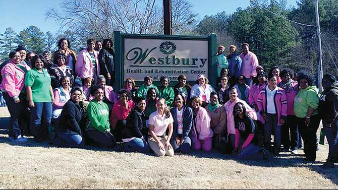 Chi Tau Omega serves at Westbury