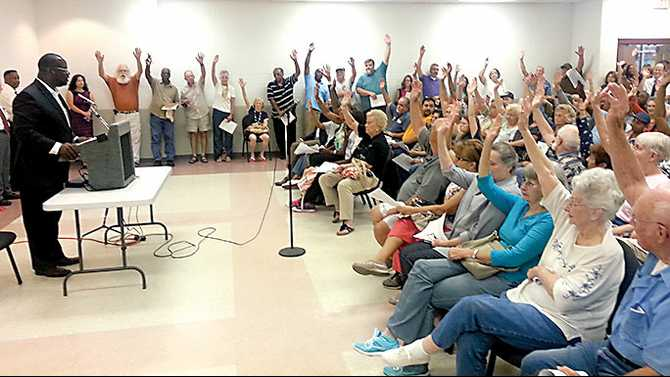 The ayes have it: Trash collection town hall sees overwhelming opposition