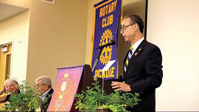 'Creating Change' at United Way kickoff with Rotary