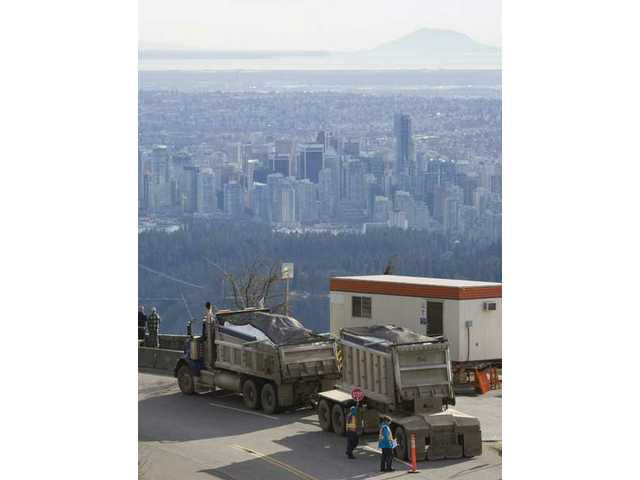 Snow still being trucked in to Cypress Mountain