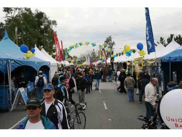 Thousands Line Street to Spot Amgen Cyclists