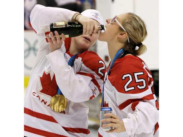 Olympics wrap: Canada beats US 2-0 for gold in women's hockey