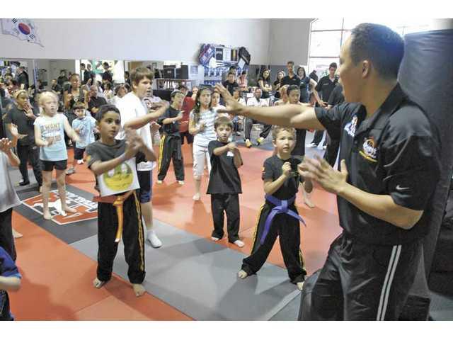 Kids learn self-defense