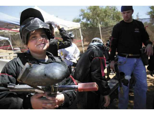 Paintball fundraiser supports troops