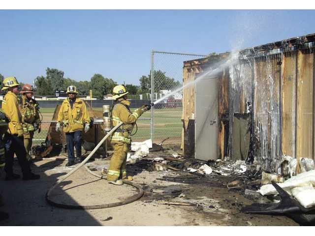 Snack shack burns down at Hart High School