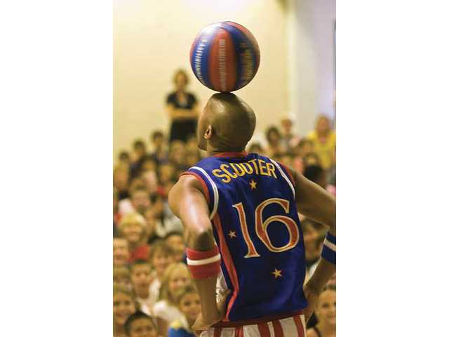 Harlem Globetrotters visit North Park students