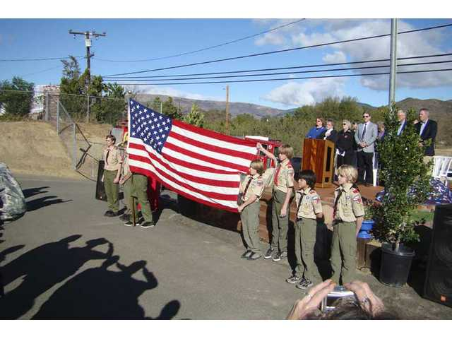 Military mound dedicated in Agua Dulce
