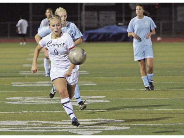 Canyon girls soccer gets four quick ones
