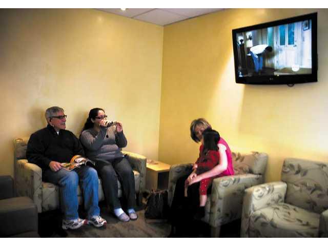 Hospital waiting room gets facelift
