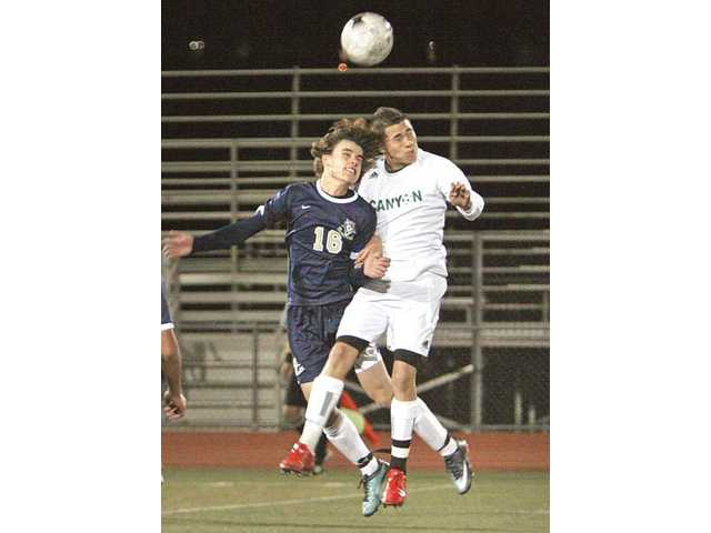 Prep soccer: Day saved for Canyon