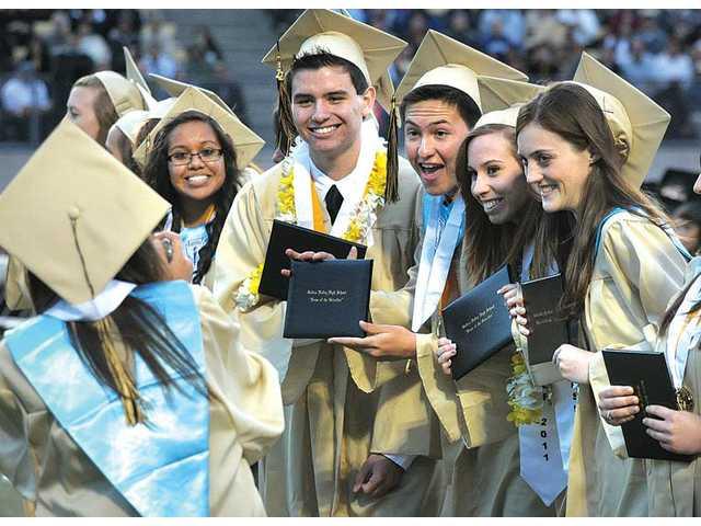 Golden Valley High School students graduate