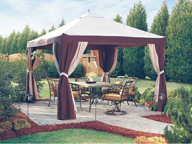 Backyard Canopy Lowes : the garden treasures 10 x 12 steel gazebo is just one of many shade