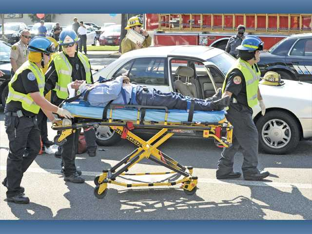 Two injured in collision on Valencia Boulevard