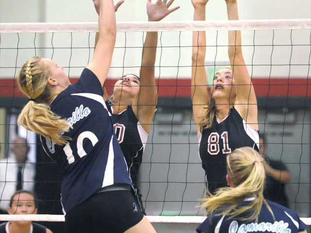 Prep volleyball: Hart steps up amid pressure