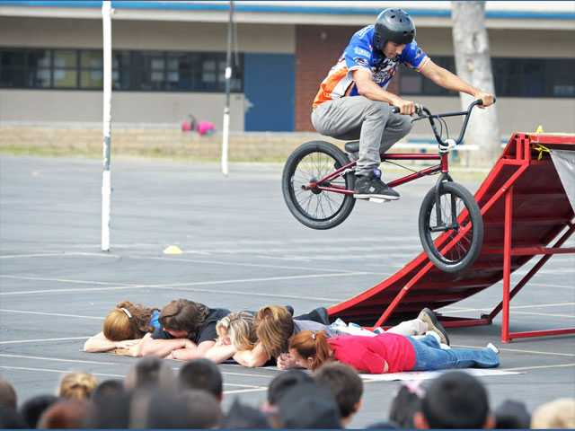 Red Ribbon Week celebrated with flying bicycles