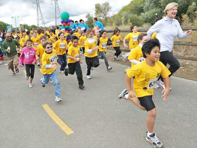 Kids take Final Mile to healthy future