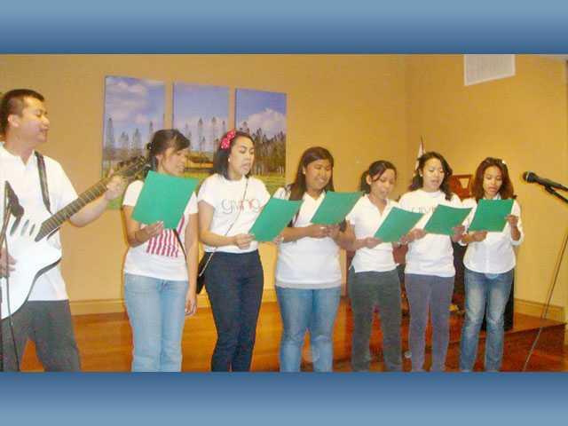 Congregation performs for senior citizens