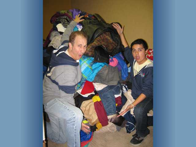 Teens collect jackets for kids in need