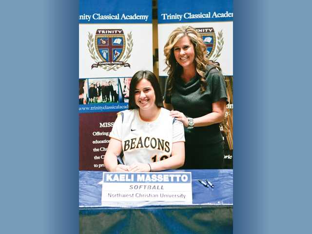 Prep softball: Massetto is Trinity's first