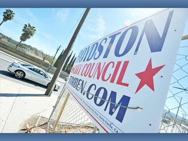 Thieves steal City Council campaign signage