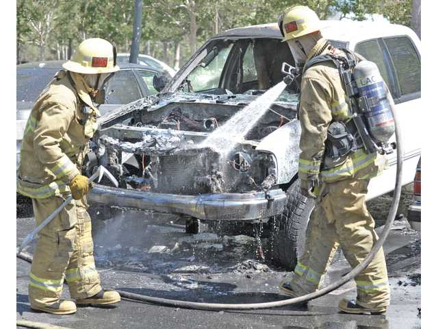 No one hurt in truck fire