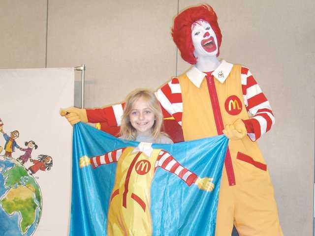 Ronald McDonald pays a visit