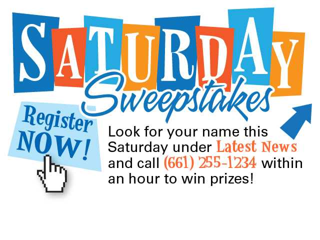 Saturday Sweepstakes